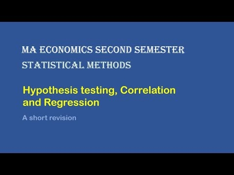 Live session on Hypothesis testing, Correlation, and Regression