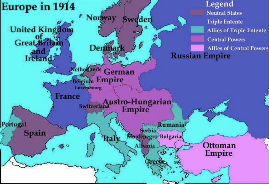Europe Before Ww1 Map