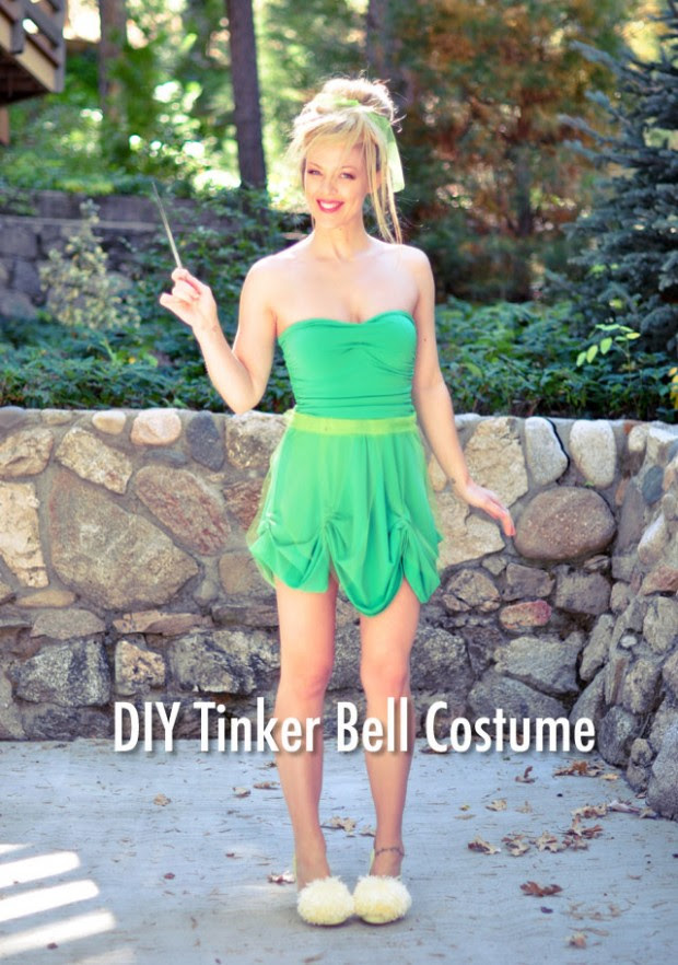 Happily grim disney dress tutorials for not so grownups diy tinker bell costume hair makeup tutorial solutioingenieria Image collections