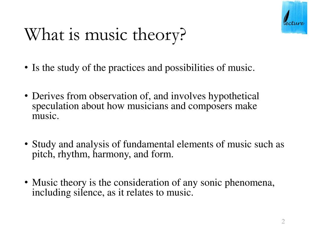 An Introduction To The Analysis Of Music