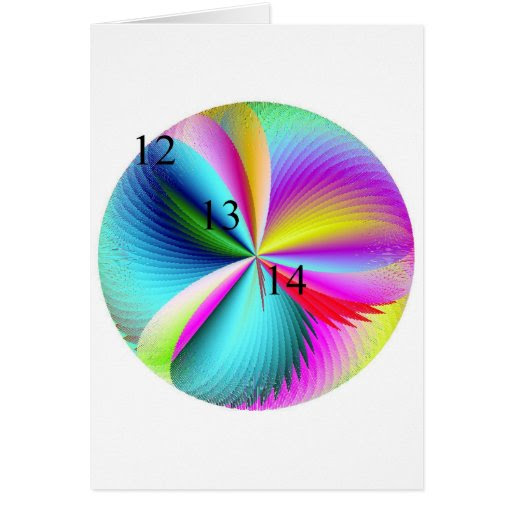 12/13/14 Rainbow Feather Ball Greeting Card