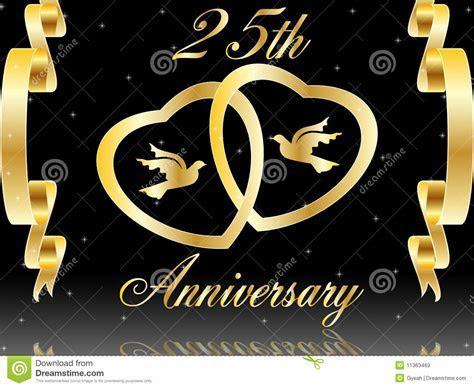 25th wedding anniversary stock vector. Illustration of