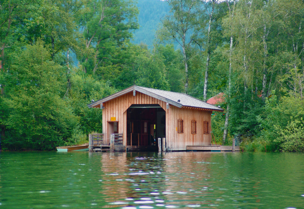 Boathouse on the Isle of Wörth, Schliersee, Bavaria, Germany Submitted by Philipp Nilson