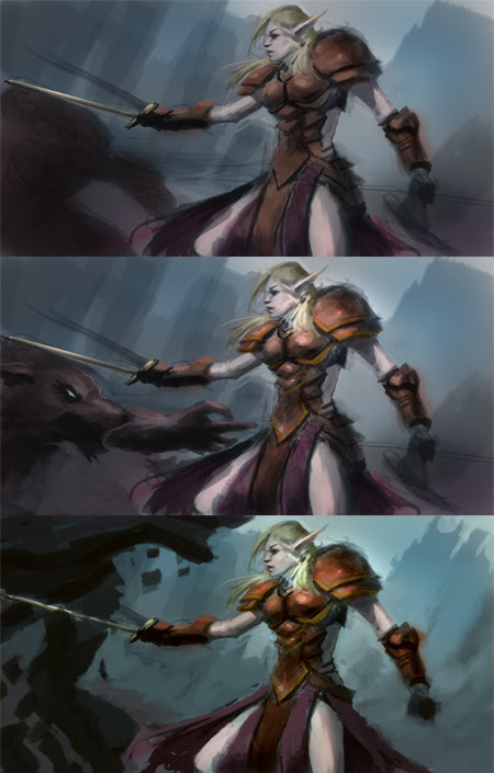 digital painting tutorial blood elf