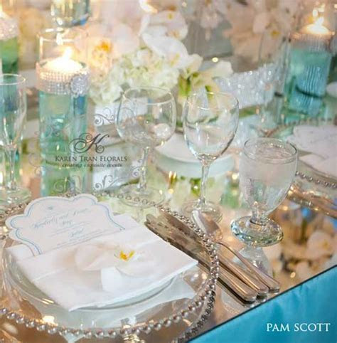Caribbean Islands Tiffany Blue Wedding reception