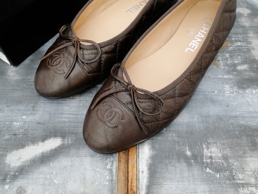 Chanel Bronze Quilted Leather Ballet Flats 8.5 | Jill's Consignment