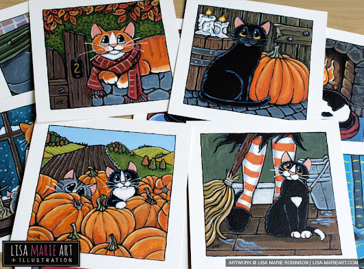 Halloween Cat Paintings Arriving at Whitby Galleries » Lisa Marie Art & Illustration