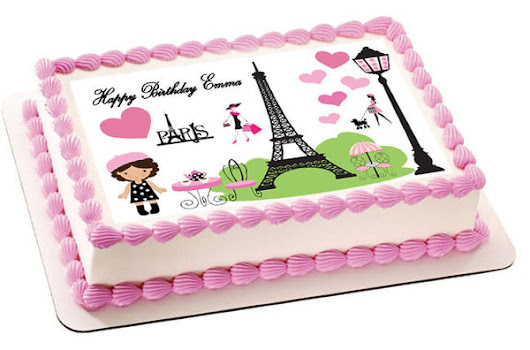 Paris Edible Cake Topper & Cupcake Toppers – Edible Prints On Cake (EPoC)