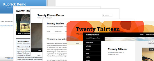 WordPress Default Themes Through The Ages - Showcase