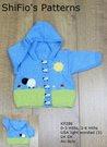 Knitting Pattern- KP286 - Baby Scene Jacket - 0-3 , 3-6mths - UK Terminology