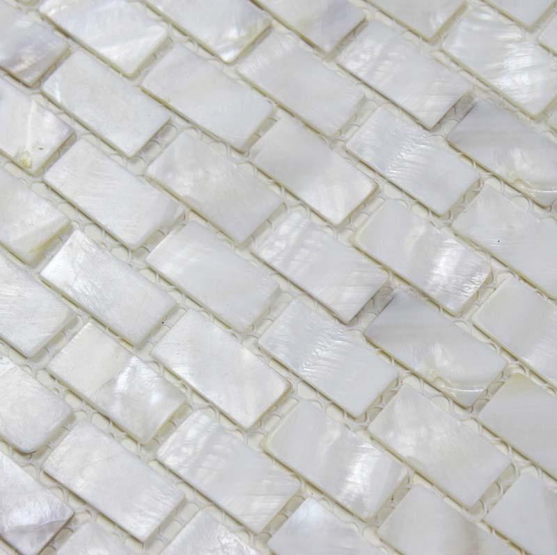 Mother Of Pearl Mosaic Tiles Subway Pearl Shell Tile Backsplash Bk03