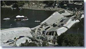 minneapolis bridge collapse 2007 300x172 Hurricane Sandy Destroys Republican Ideology