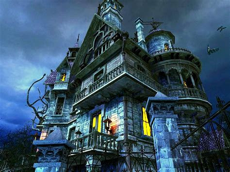 haunted house  screensaver  animated