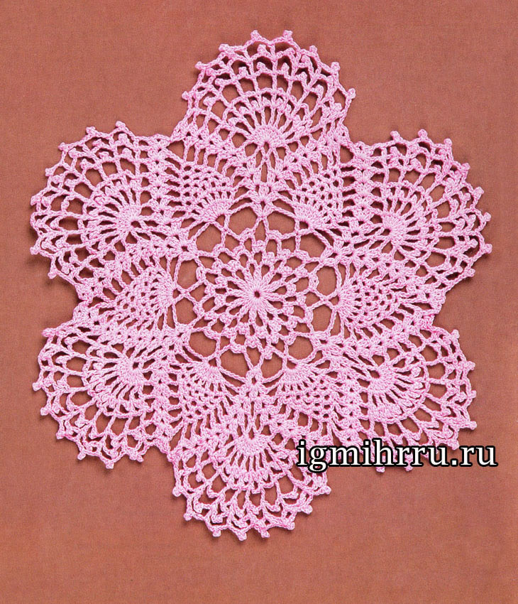 Napkin Pink dreams.  Crochet