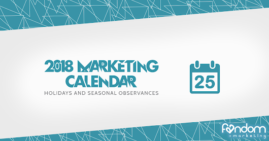 2018 Marketing Holidays Calendar