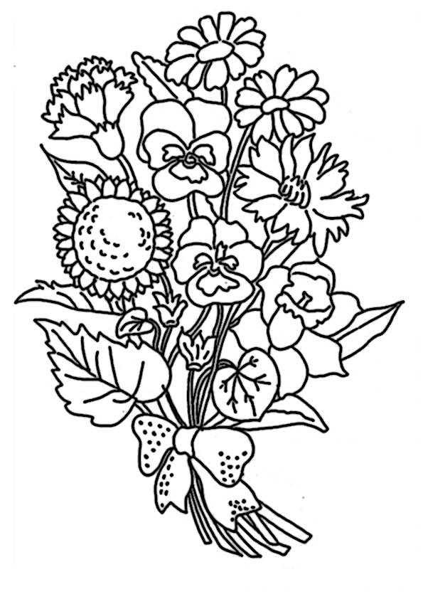 Blumen-5 | Ausmalbilder Malvorlagen