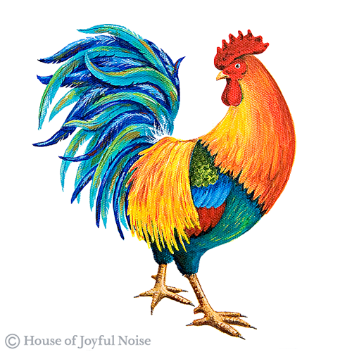 Details About the New House of Joyful Noise Rooster |