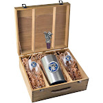 Kentucky Wildcats UK Wine Glasses Gift Set with Wine Stopper and Chiller