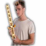 Light Up 3D Pixel Halloween Warrior Sword
