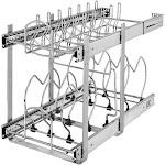 "Rev-A-Shelf 5CW2-1222-CR Small 2-tier Cookware Organizer - 11.75""W x 22"" D x 18""H"