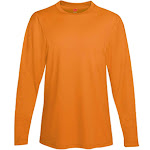 Hanes 482L Cool Dri Performance Men's Long-Sleeve T-Shirt - Safety Orange