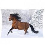 Custom Horse Pillowcase Standard Size Design Cotton Pillow Case