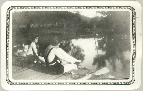 Two girls on the dock