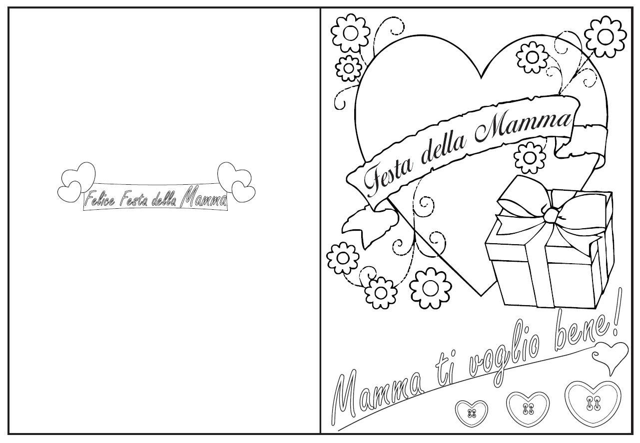 Felice Festa Della Mamma Da Colorare Bimbi Di Carta