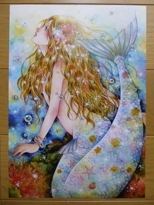 A4イラストカード 人魚姫 ハンドメイドマーケット Minne