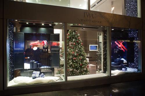 Holiday season window decoration: IWC Flagship Boutique New York ...