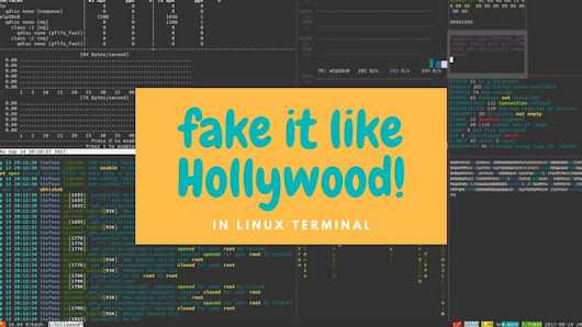 Fake A Hollywood Hacker Screen in Linux Terminal