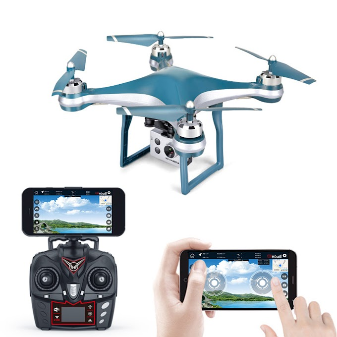 K10 Intelligent Drone WiFi FPV 720P/1080P HD Wide Angle Camera GPS Positioning 500 Meters Remote Control 18 Minutes Flight Time