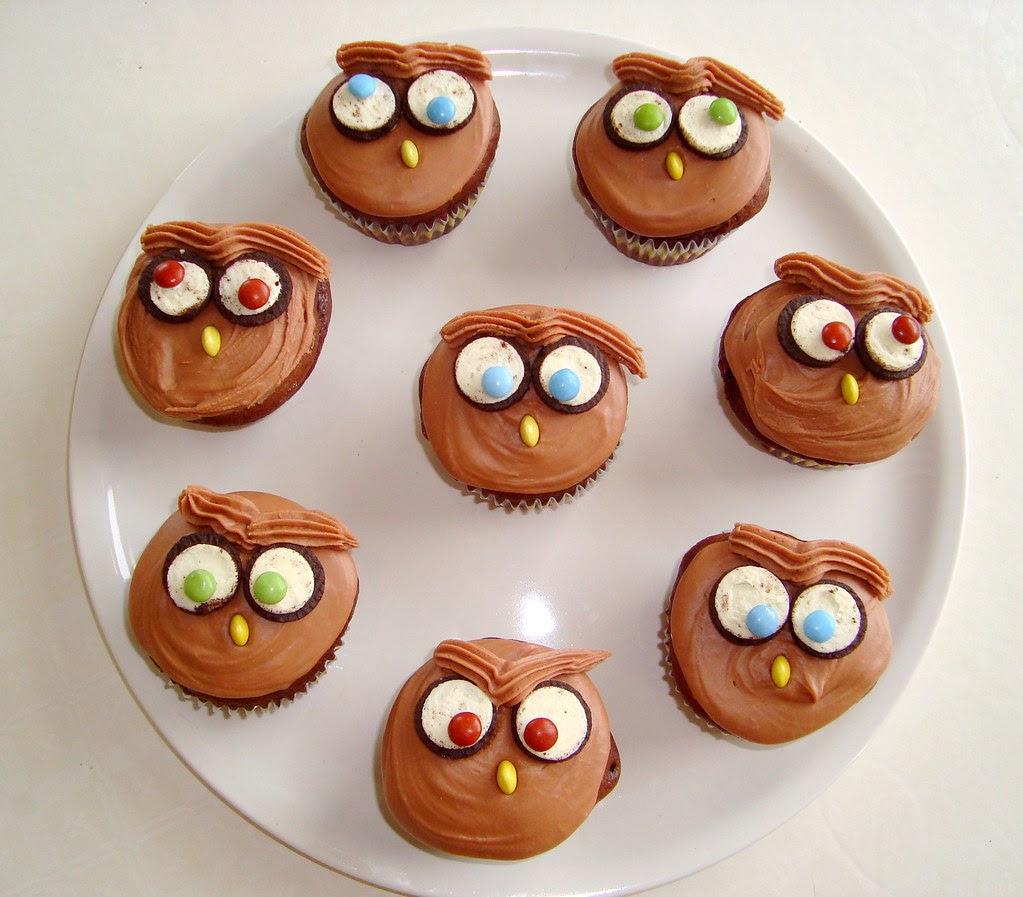 Owl Oreo Cupcakes
