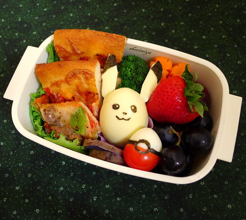 Pikachu and Pokeball Bento by sherimiya ♥