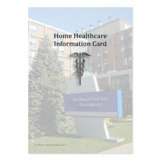 Home Healthcare Info Pocket Card profilecard
