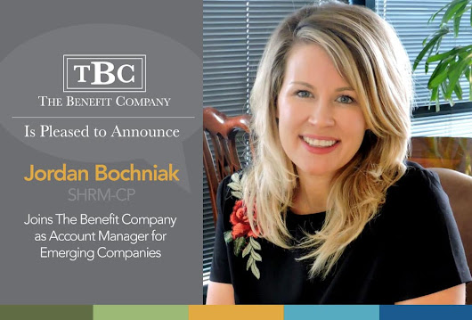 Jordan Bochniak, SHRM-CP, Joins The Benefit Company as Account Manager for Emerging Companies - The Benefit Company