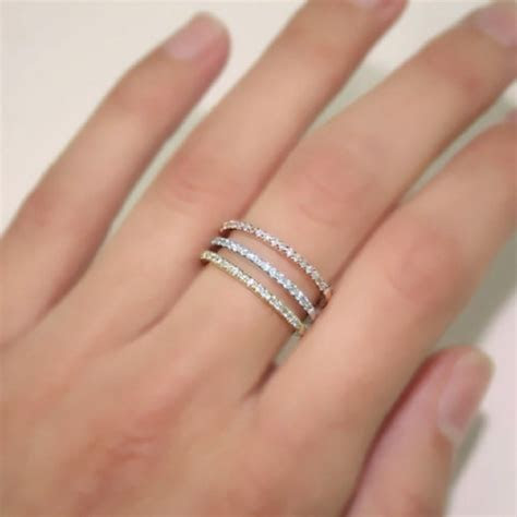 Platinum, 1 mm, micro pavé wedding band to match