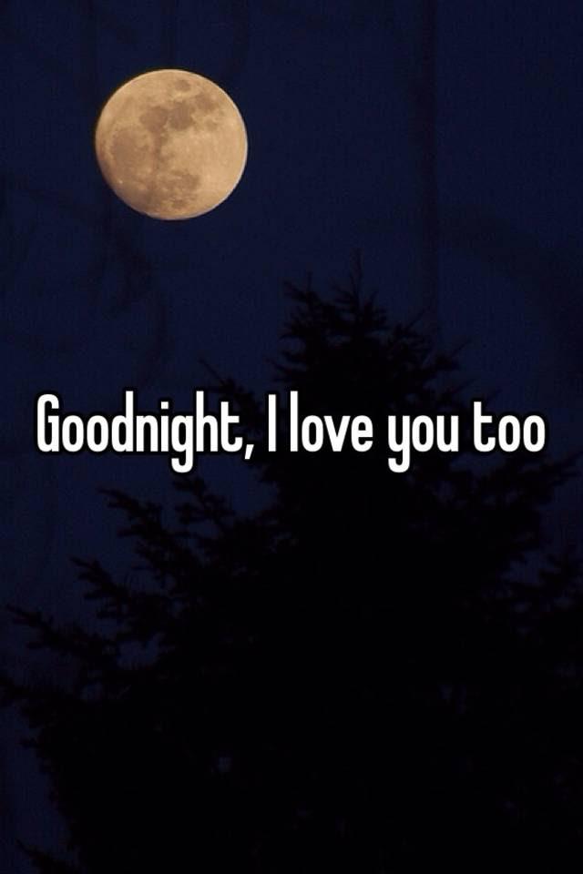 Goodnight I Love You Too
