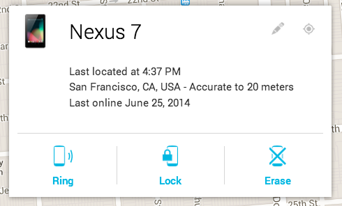 Android Device Manager - Accounts Help