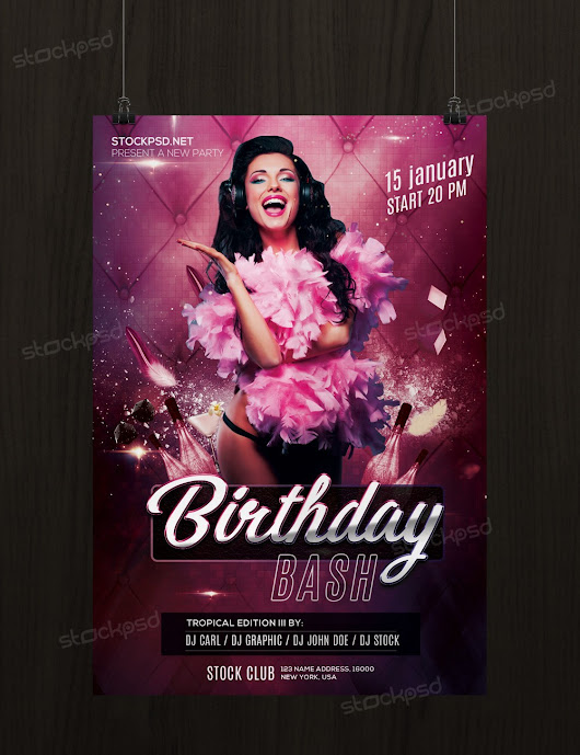 Birthday Bash - Free PSD Flyer Template - Stockpsd.net