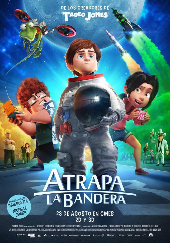 Atrapa la Bandera, cine, película, Aventura espacial, ciencia ficción, aventuras, animación, comedia, dibujos, blog de cine, solo yo, blog solo yo, Atrapa la Bandera,