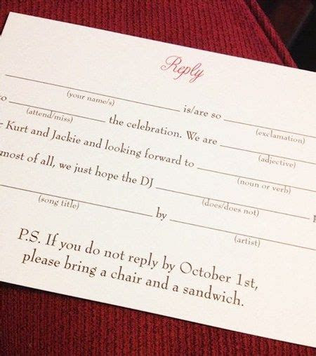 This one funny wedding RSVP line will make your guests