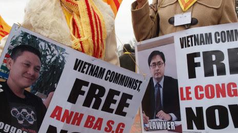 Biểu tình vì nhân quyền Việt Nam ở Mỹ
