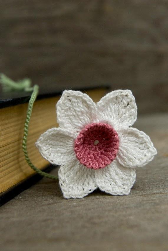 Handmade Bookmark Crochet Daffodil