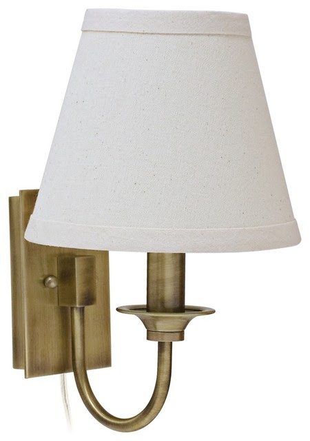 Traditional House of Troy Greensboro Antique Brass Wall Lamp ...