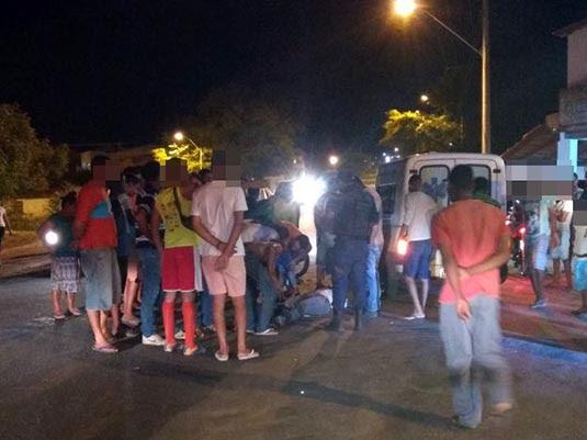 Acidente aconteceu na noite desta sexta-feira (27) | Foto: Leitor do Notícias de Santaluz