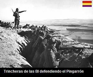 brigada internacional defendiendo el pingarrón