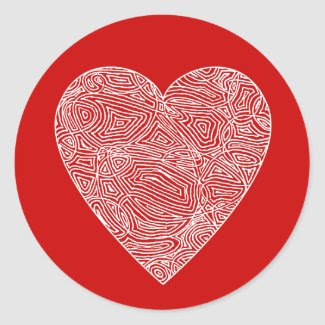 Scribbleprint Heart Sticker sticker