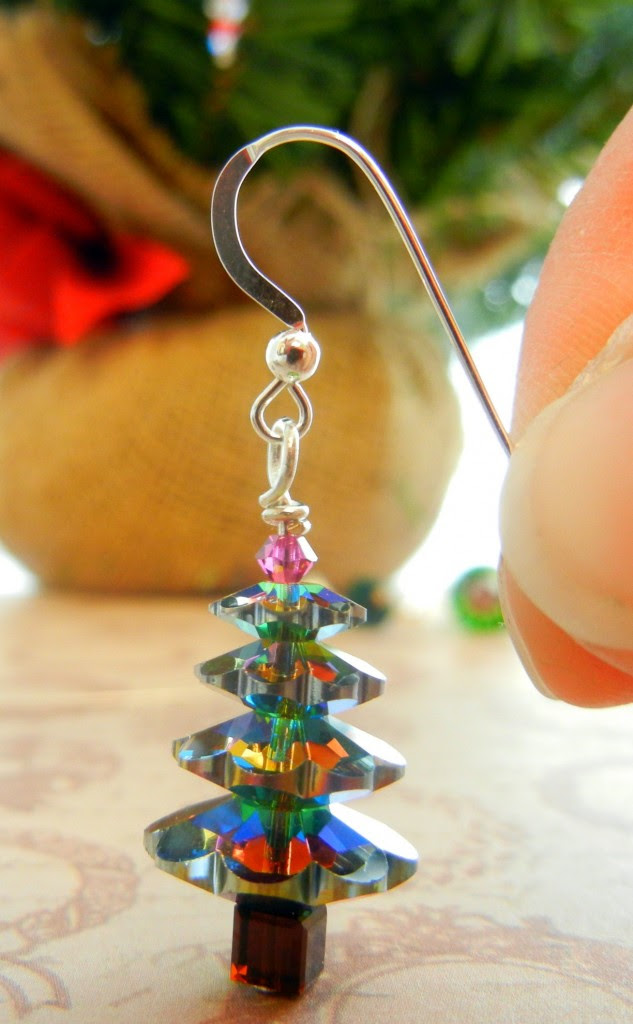 Make Margarita Christmas Tree Earrings To Make Merry Rings And Things