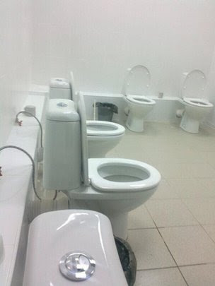 Communal toilets at Kazan University, Russia